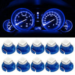 Partsam 10Pcs Blue T4.7/T5 Neo Wedge A/C Climate Cluster Led Light Bulb 5050-Smd 12Mm For 2001-2011 Dodge Ram 1500 2500 3500