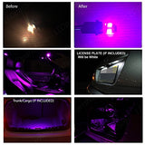 Nissan 370Z 2009-2014 Fuschia Purple Premium Led Interior Lights Package Kit (5 Pieces)