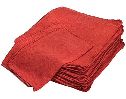 Cleaning Solutions 78966-100Pk Premium Grade Heavy Weight Red Shop Towel -