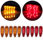 Eccpp 5 Red 5 Amber Tear Drop Led Marker Light 20-Leds