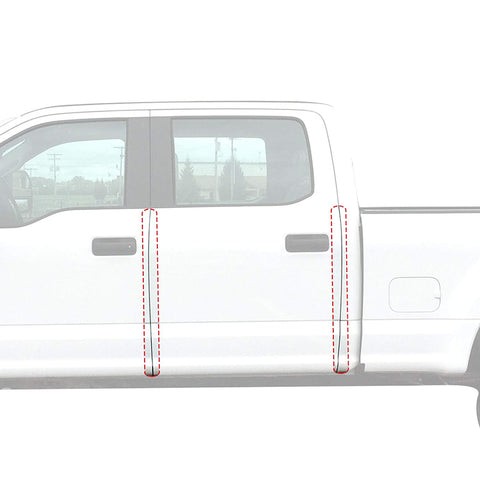Red Hound Auto Door Edge Lip Guards Compatible With Ford F-150 F150 Crew Cab 2015 2016 2017 2018 2019 4Pc 4 Door Clear Paint Protector Film Not Universal Pre-Cut Custom Fit