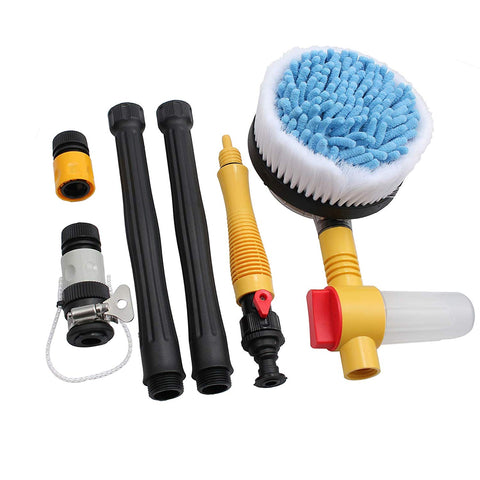 Justech Car Rotating Pole Vehicle Wash Washing Cleaning Brush Sponge Cleaner Hose
