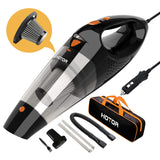 Car Vacuum Cleaner High Power, Hotor Car Vaccum, Dc 12V Portable Hand Auto Vacuum Cleaner For Car Use Only - Orange