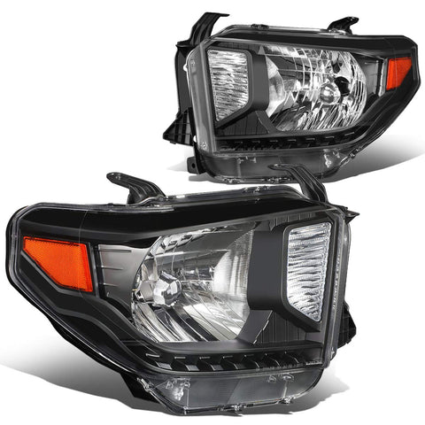 For 14-18 Tundra Pair Black Housing Amber Corner Front Driving Headlight/Lamps