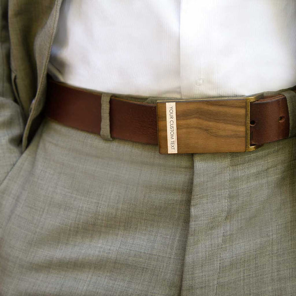 Custom Maple Strip Belt Buckle