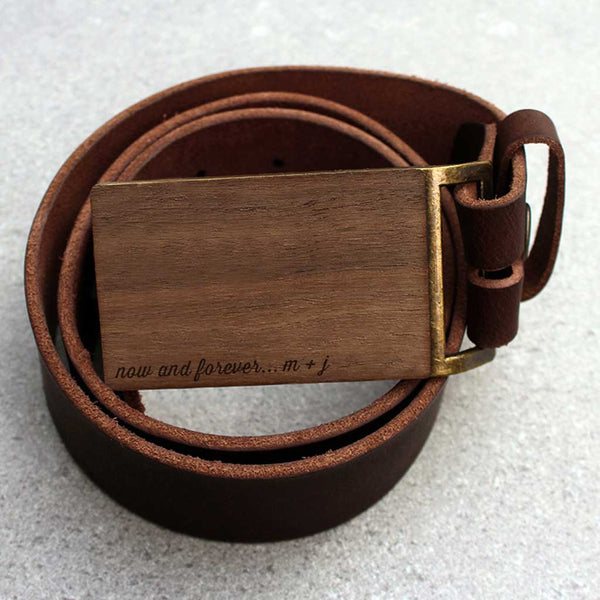 Custom Walnut Belt Buckle