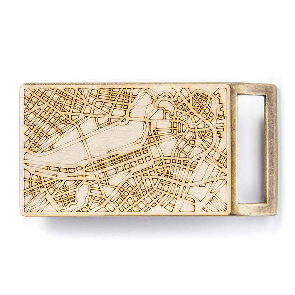 Boston Map Belt Buckle