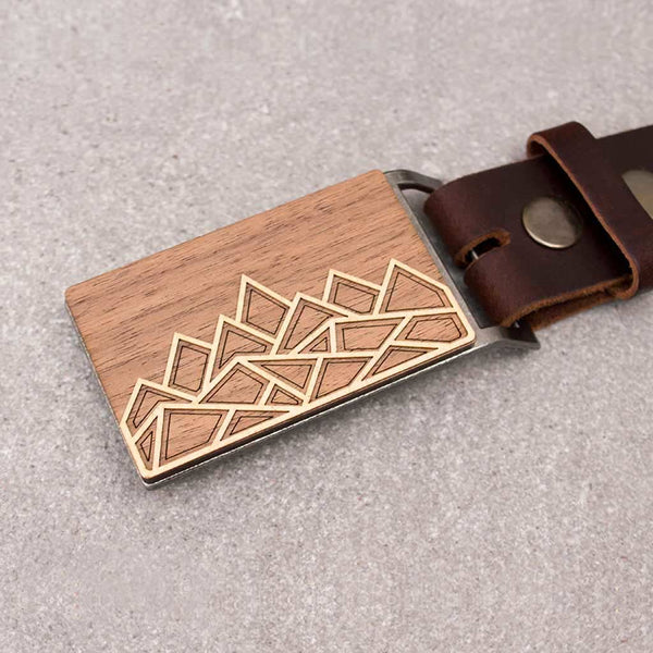 Geometric Mountain Belt Buckle