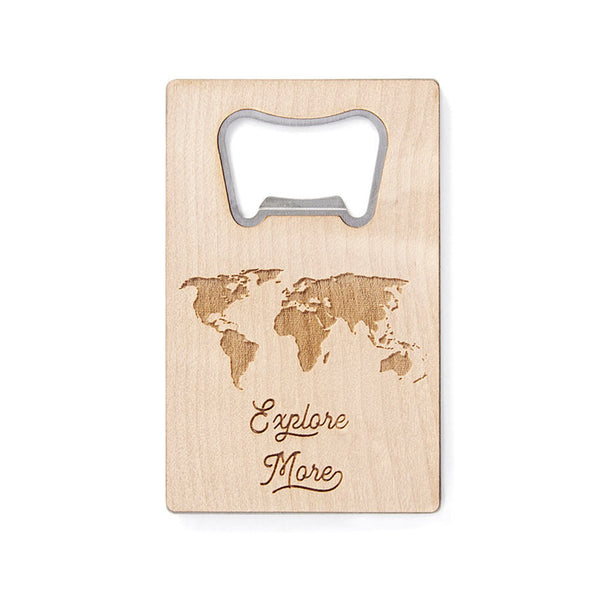 World Map Bottle Opener