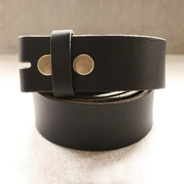 Leather Belt Strap Brown