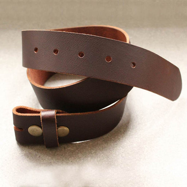 Leather Belt Strap Black