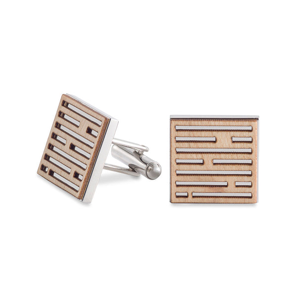 Dash Cufflinks Maple