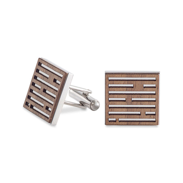 Dash Cufflinks Walnut