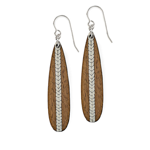 Chevron Long Earrings