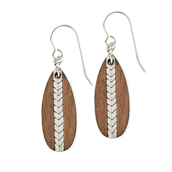 Chevron Short Earrings