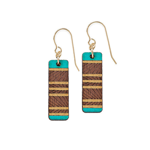 Lines Short Earrings