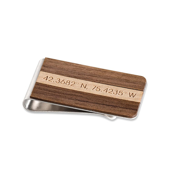 Engraved Bar Money Clip
