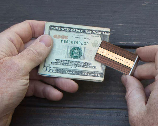 Morse Code Money Clip