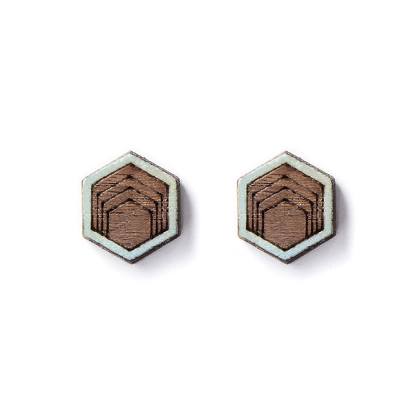 Hex Stud Earrings