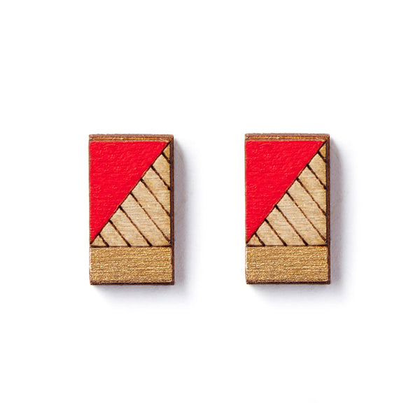 Lines Stud Earrings