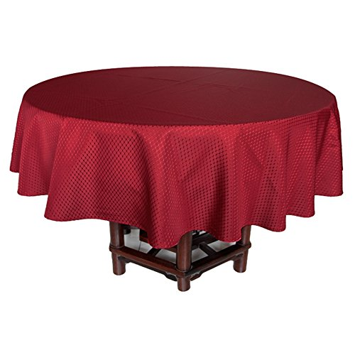 225 & Eforcurtain Classic Brick Red Fabric Table Cover Waffle Weave Design For Parties Waterproof Stain Resistant Tablecloth Spill Proof 70 Inch Round