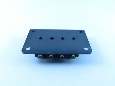 Image of 4-String Adjustable Black Roller Bridge
