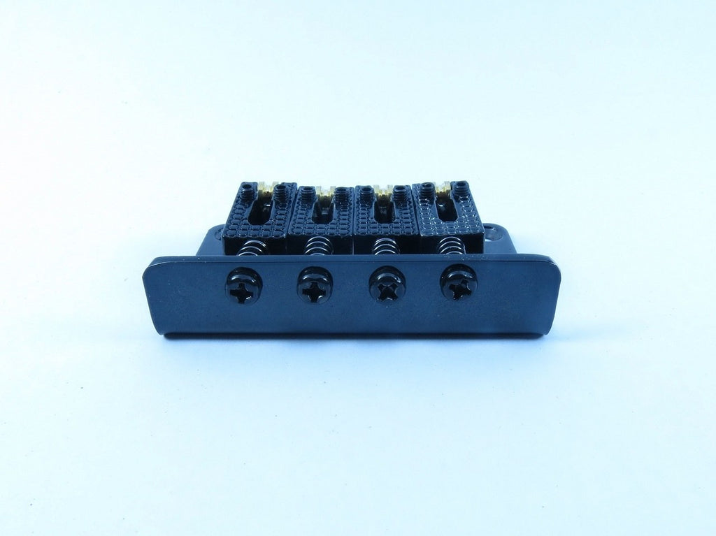 4-String Adjustable Black Roller Bridge