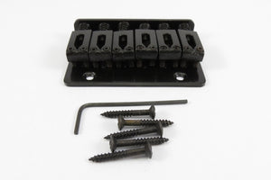 6-String Adjustable Black Bridge