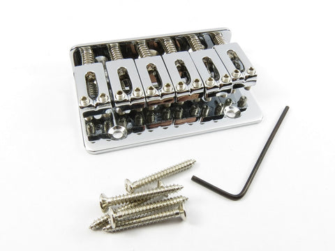 6-String Adjustable Chrome Bridge