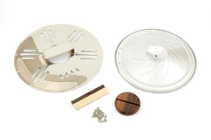 4-String Cigar Box Resonator Cone Kit Art Deco Chrome