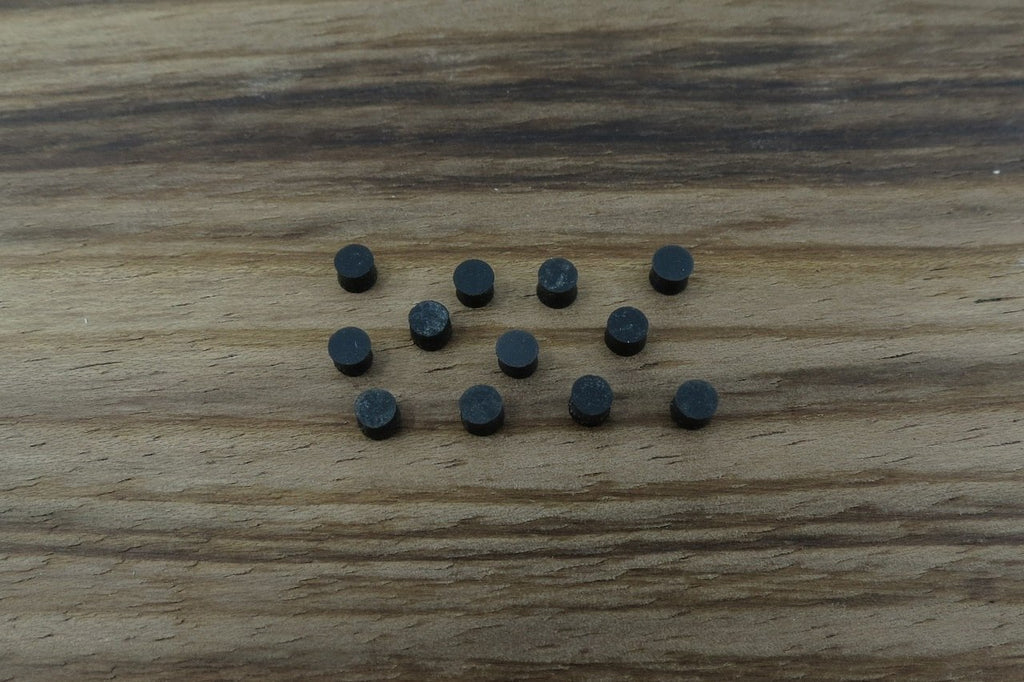 Black Acrylic Inlay Dots 3mm (12pcs)