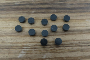 Black Acrylic inlay Dots 5mm (12pcs)