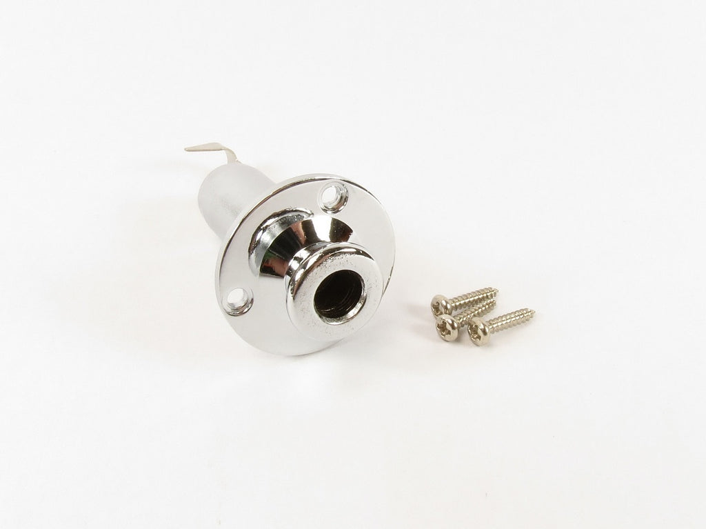 End Pin Stereo Jack Chrome