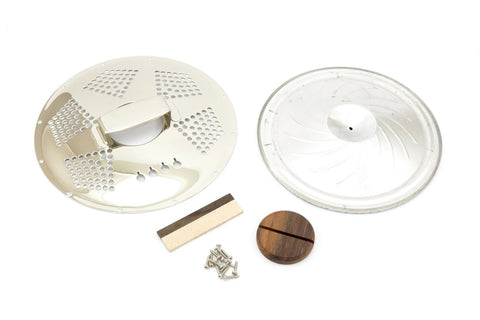 Image of 4-String Cigar Box Resonator Cone Kit Diamond Chrome