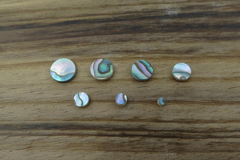 Green Abalone Inlay Dots