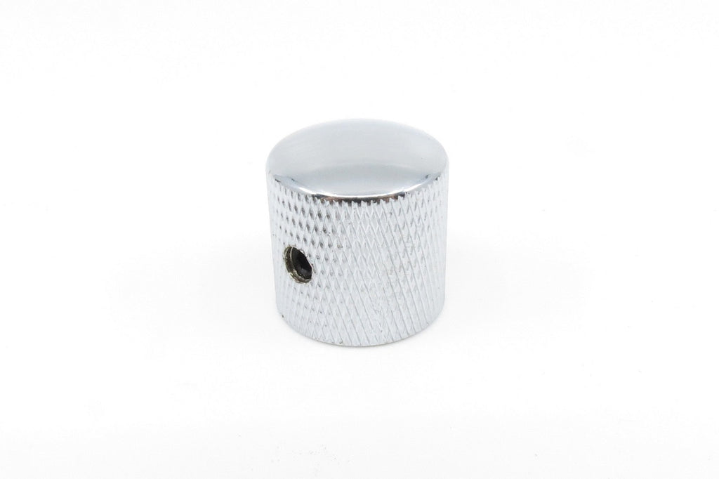 Knurled Alloy Knob Chrome