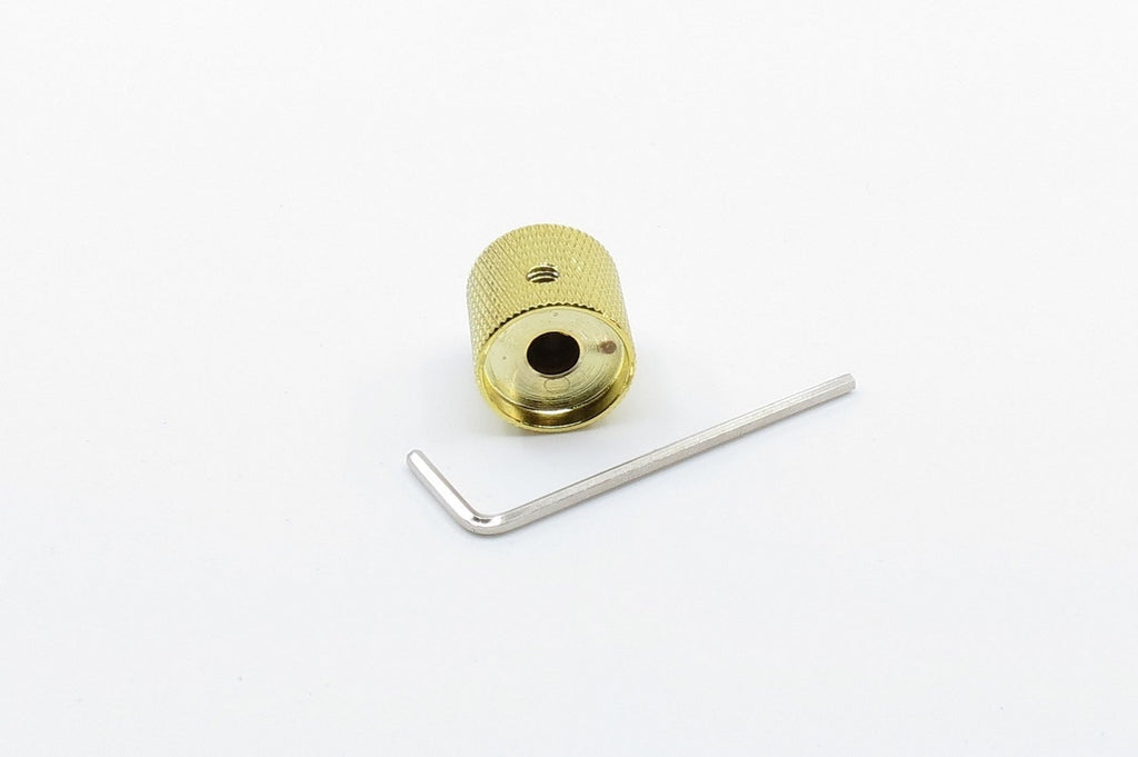 Knurled Alloy Knob Gold