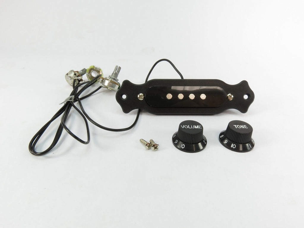 PreWired 4 Pole Single Coil Pickup Black