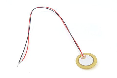 Image of Piezo Disc With Leads 20mm