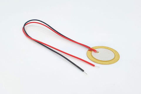 Image of Piezo Disc With Leads 27mm