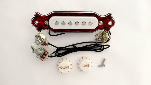 PreWired Single Coil Pickup White & Red