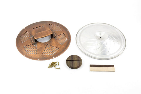 Image of 4-String Cigar Box Resonator Cone Kit Diamond Copper