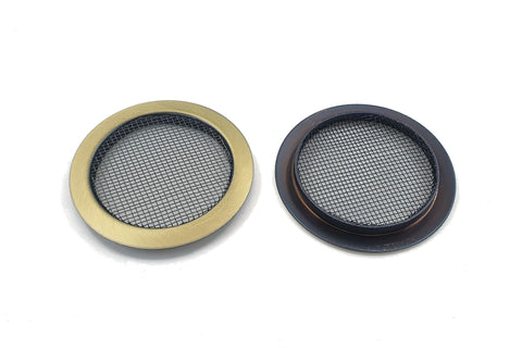 Image of Screened Soundhole Covers Large Aged Brass 2pk