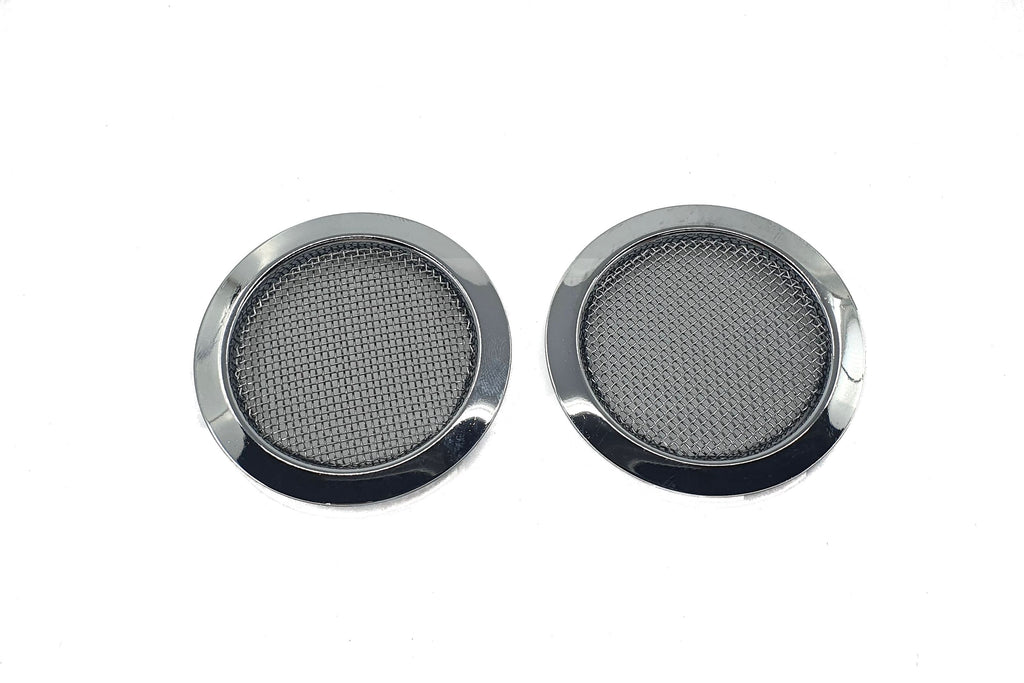 Screened Soundhole Covers Large Chrome 2pk