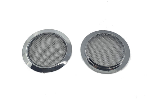 Image of Screened Soundhole Covers Large Chrome 2pk