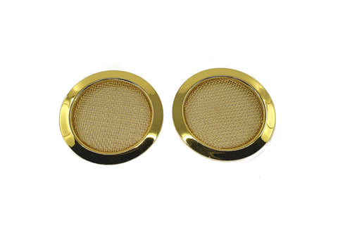 Screened Soundhole Covers Large Gold 2pk