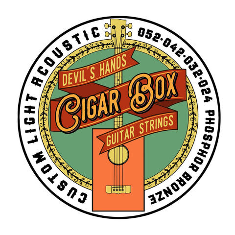 Image of Devil's Hands Custom Light Acoustic CBG Strings Phosphor Bronze