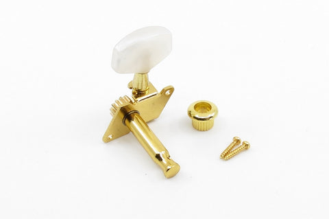 Image of Open Gear Tuner Pearloid Gold Left