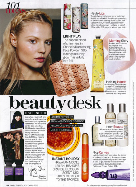 Orange Blossom by Leilani Bishop Fragrances feature in the beauty desk, Marie Claire