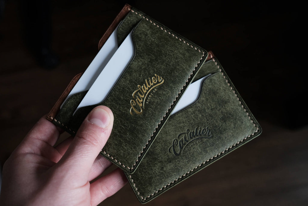 Gold Foiled and Debossed Leather Wallet